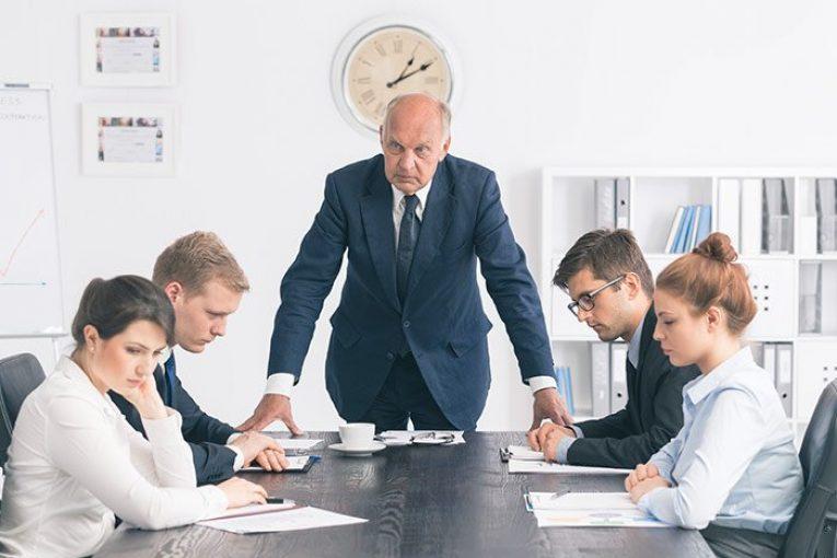 رفتار نامناسب مدیران