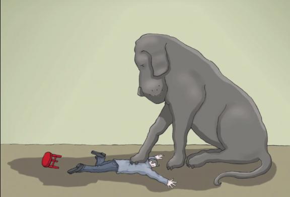 سگ سیاه افسردگی